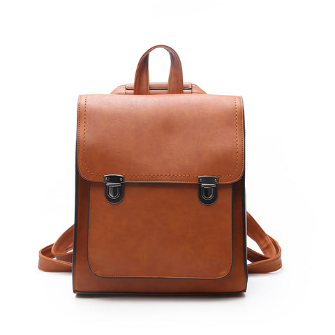JOYPESSIE New Fashion Backpack PU Leather School Bags and Casual Style Shoulder Bag For Girls