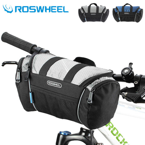 LIMITED OFFER: ROSWHEEL 5L Cycling Bag, Handlebar Front Tube Pannier Basket Shoulder Pack