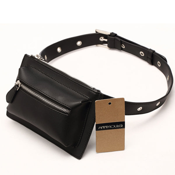 LIMITED OFFER: Designer Pu Leather Waist/Belt Bags, Solid Color Phone Pouch Quality Fanny Pack