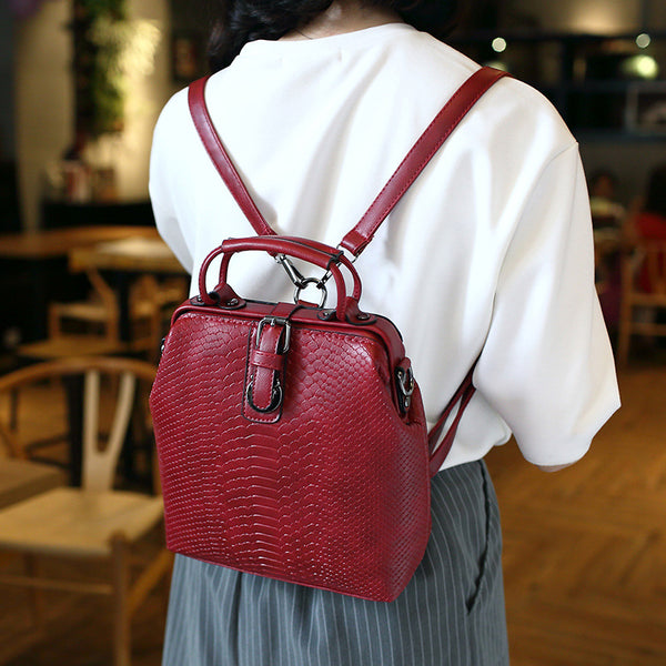 SPECIAL OFFER: JOYPESSIE Hot New Fashion Alligator Pu Leather Beautiful School Bag Leisure Backpack