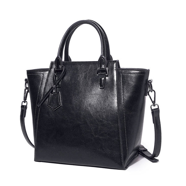SPECIAL OFFER: Vintage Retro Brand Designer Genuine Leather Real Cow Leather Tote Bag, Handbags
