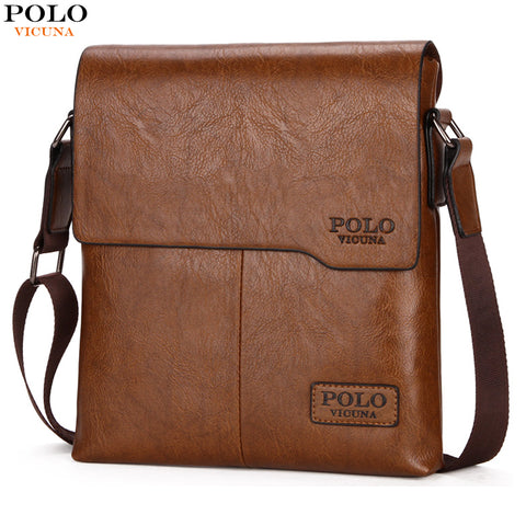 VICUNA POLO High Quality Vintage Fashion Leather Bag, Casual Business Bag, Travel Crossbody Bags