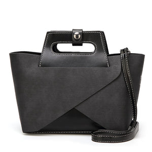 New Fashion Handbag and Purse Shoulder Bag Vintage Casual Solid Zipper Small Suitcase Tote Bag