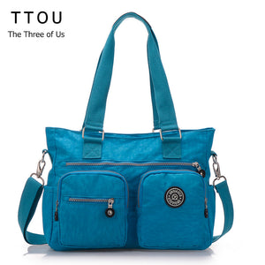 TTOU New Design High Quality Casuals Waterproof Nylon Shoulder Bags Multi-functional Travel Bag