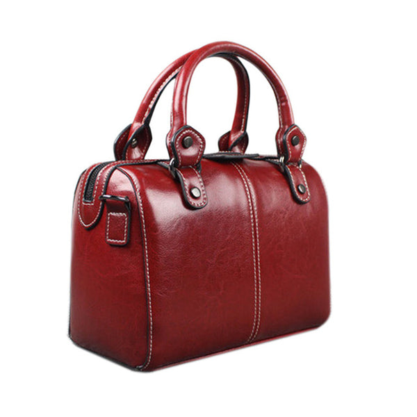 SPECIAL OFFER: Real Genuine Leather Handbag High Quality Designer Luxury Brand Boston Bag