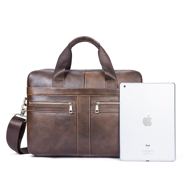 LIMITED STOCK: Genuine Leather Briefcases, Cowhide Leather Laptop Handbag, Business Bags
