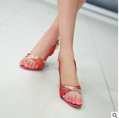 SPECIAL OFFER: Luxury shoes size (3-17), Glitter Thin High heels Open Toe Pumps Buckle strap