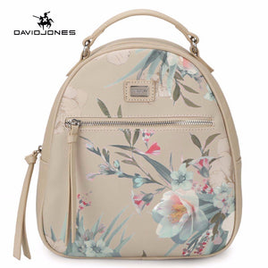 LIMITED STOCK: DAVIDJONES Women's Floral PU Leather Backpack and Shoulder Bags