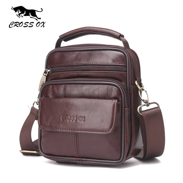 CROSS OX Genuine Leather Handbags, Shoulder Bags, Business Flap Bag, Cow Leather Small Bag