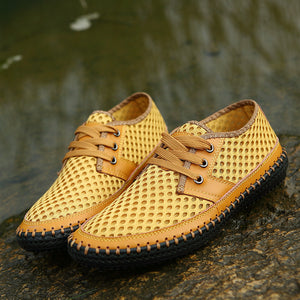 Men Casual and Driving Shoes, Hollow Breathable Loafers Comfortable Size 47 48