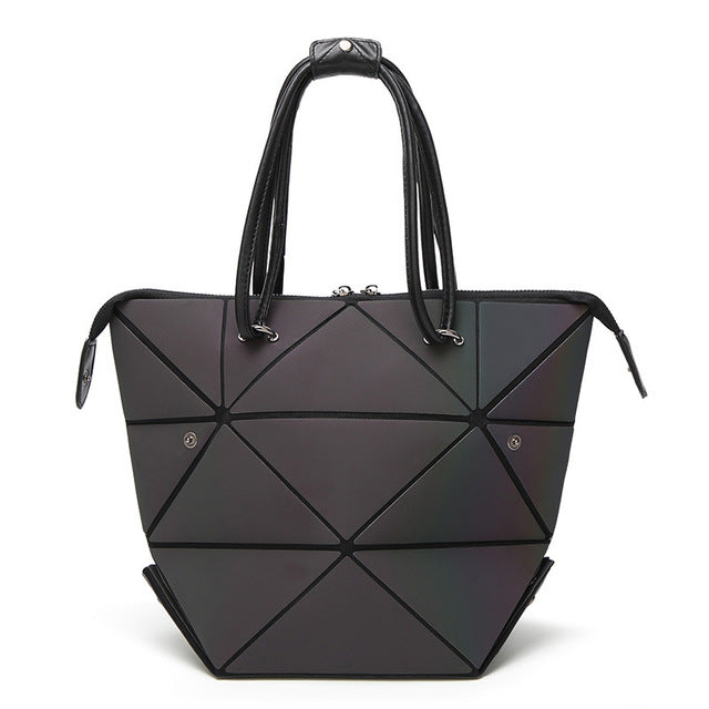 New Fashion Bao Bags, Luminous Geometric Ladies Crossbody, Shoulder Bag, Deform Tote Handbag