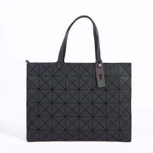 2018 New Luminous Folding Bags, Geometric Plaid Luxury Handbags, Large Tote Bag, Evening Bags