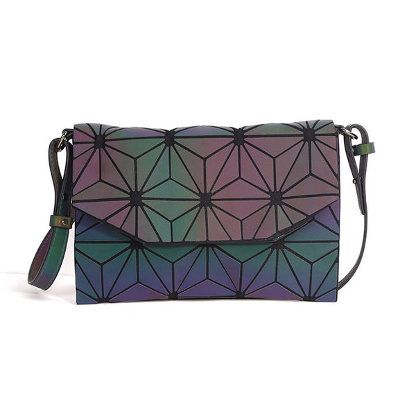 2018 Fashion Geometric Casual Clutch Messenger Bag, Luminous Designer Evening Bag, Shoulder Bags