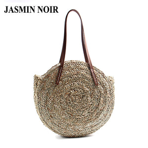 LIMITED STOCK: Summer Fashion Large Round Straw Shoulder Bag, Handbag, Rattan Totes Travel Bag