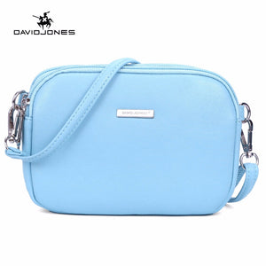 SPECIAL OFFER: DAVIDJONES PU Mini Shoulder Bags, Cellphone Bags, Multi-pocket Purse sac a main