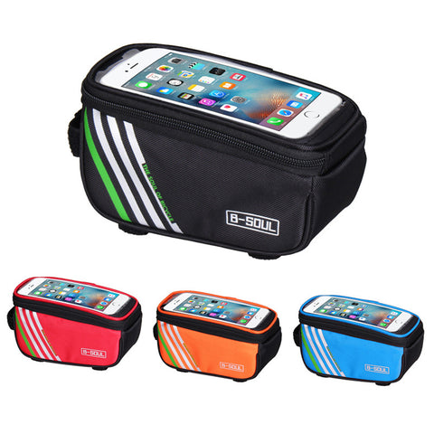 LIMITED OFFER: Mobile Phone Waterproof Bicycle Bag, MTB Bike Cover, Bicycle Frame Front Tube Bag