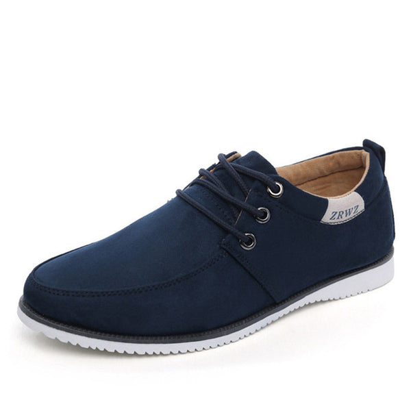 New 2018 Autumn Spring Casual Fashion Sneakers, Suede Leather Flat Comfortable Shoes for Men