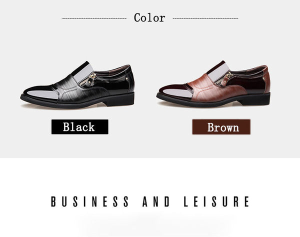 Merkmak Fashion Men's Dress Shoes, Genuine Leather Oxford Business and Wedding Shoes