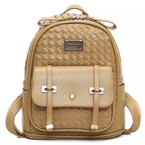 Annmouler High Quality Fashion Pu Leather Backpacks, Casual Rucksack, Small School Bags