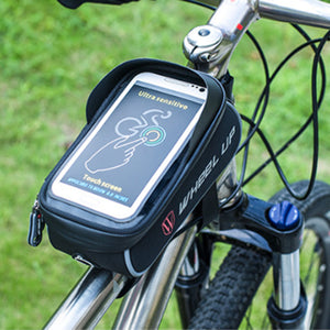 MTB Road Bike Bag, Mobile Phone Holder, Rainproof Touch Screen Bicycle Top Frame Tube Bag