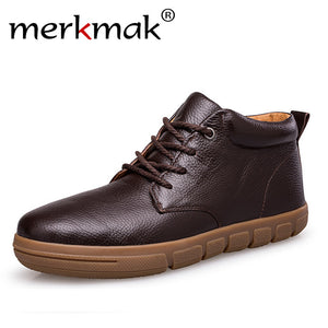 LIMITED STOCK: Merkmak Winter Boots With Fur 2018 for Business and Casual Fashion Ankle Shoes
