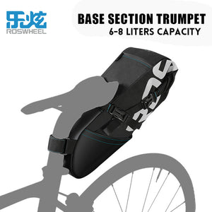 ROSWHEEL NEW MTB Bike Bag, Cycling Saddle Tail Rear Seat Waterproof Storage High-capacity Bag