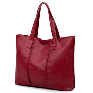 Annmouler High Quality Pu Leather Designer Handbags, Casual Tote Bags, Large Shoulder Bags