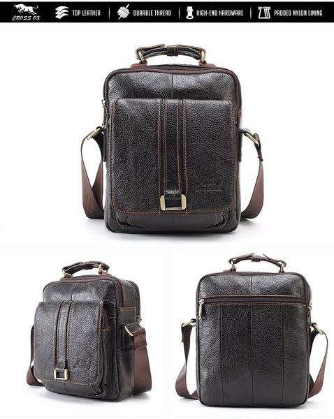 CROSS OX Genuine Cowskin Leather Business Bags, Messenger Bags, Vintage Cowhide Shoulder Bags