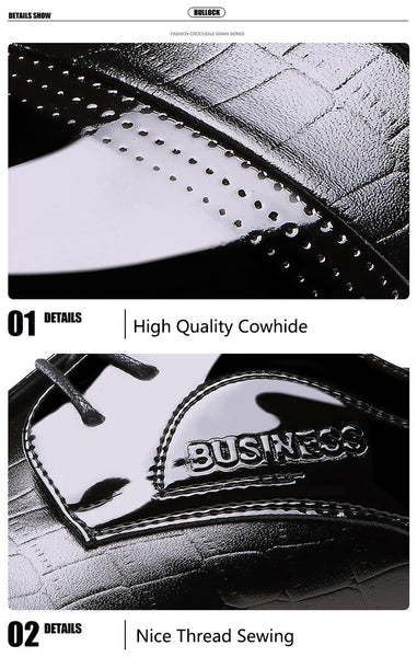Luxury Brand Patent Leather Oxfords Men's Flats Formal Shoes Classic Business Shoes Flats Big Size