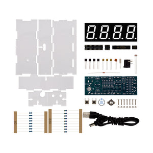 Blue LED Electronic Clock Kit
