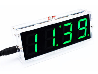 Green LED Electronic clock