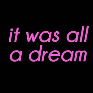 It was all a dream neon sign