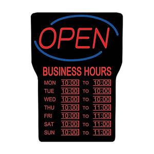 Royal Sovereign LED Open Sign With Hours