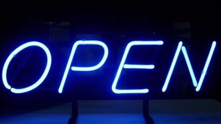 Blue Neon Open Sign Neonsignly Com