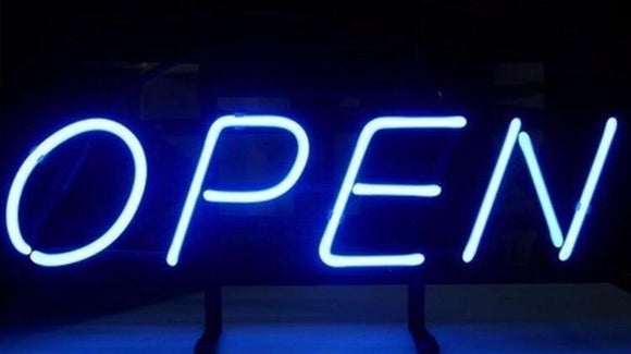 Blue Neon Open Sign Customneonsigns