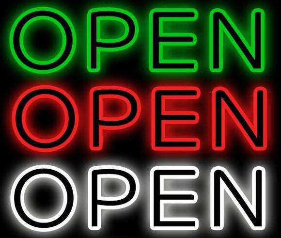 Border Open Neon Sign