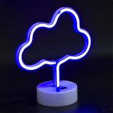 cloud neon sign on stand