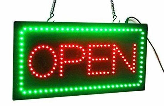 Green Red Horizontal LED Open Sign