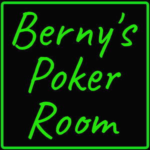 Custom Berny's Poker Room Neon Sign