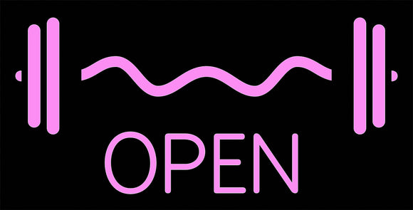 Custom Heavy Metal Fitness Open Neon Sign