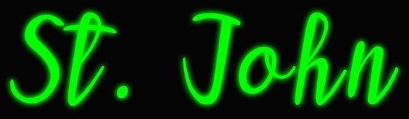 Custom St. John Neon Sign