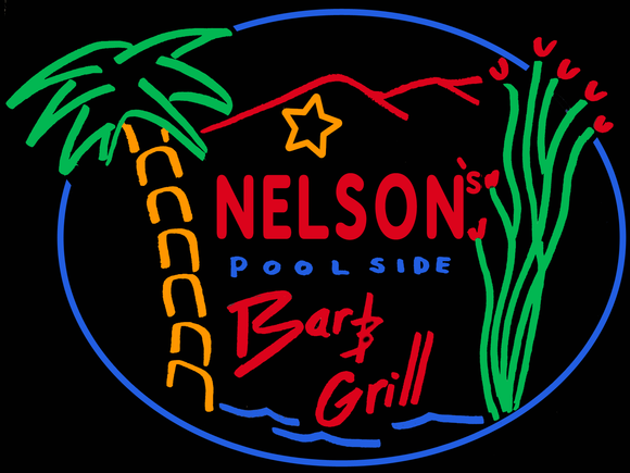 Custom Nelson's Pool Neon Signs