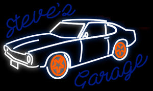 Custom Steve's Garage Neon Sign