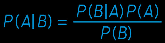 Custom Bayes Theorem Neon Sign