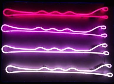 Custom Bobby Pin Neon Sign