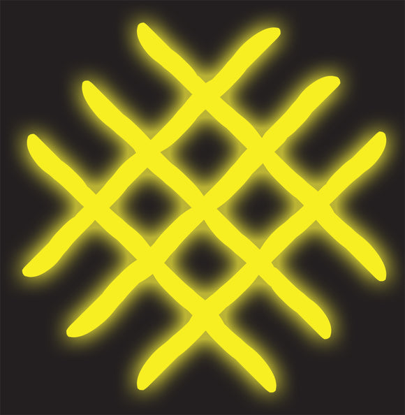 Custom Yellow Grid Neon Sign