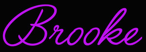 Custom Brooke Neon Sign