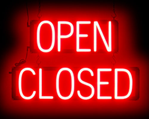 Neon Open Closed Sign