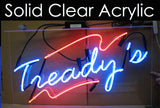 Custom GLA Morris Logo Neon Sign