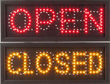 Open Closed Sign Red Orange